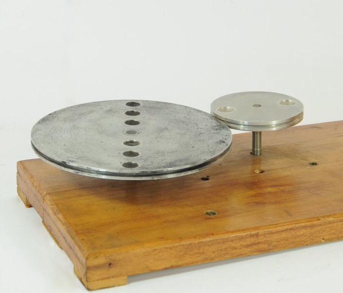 Disco rotante grande e piccolo