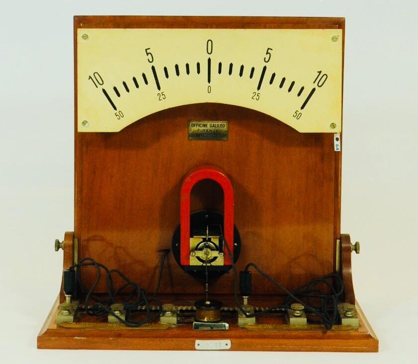 Galvanometro a indice variabile con milliamperometro