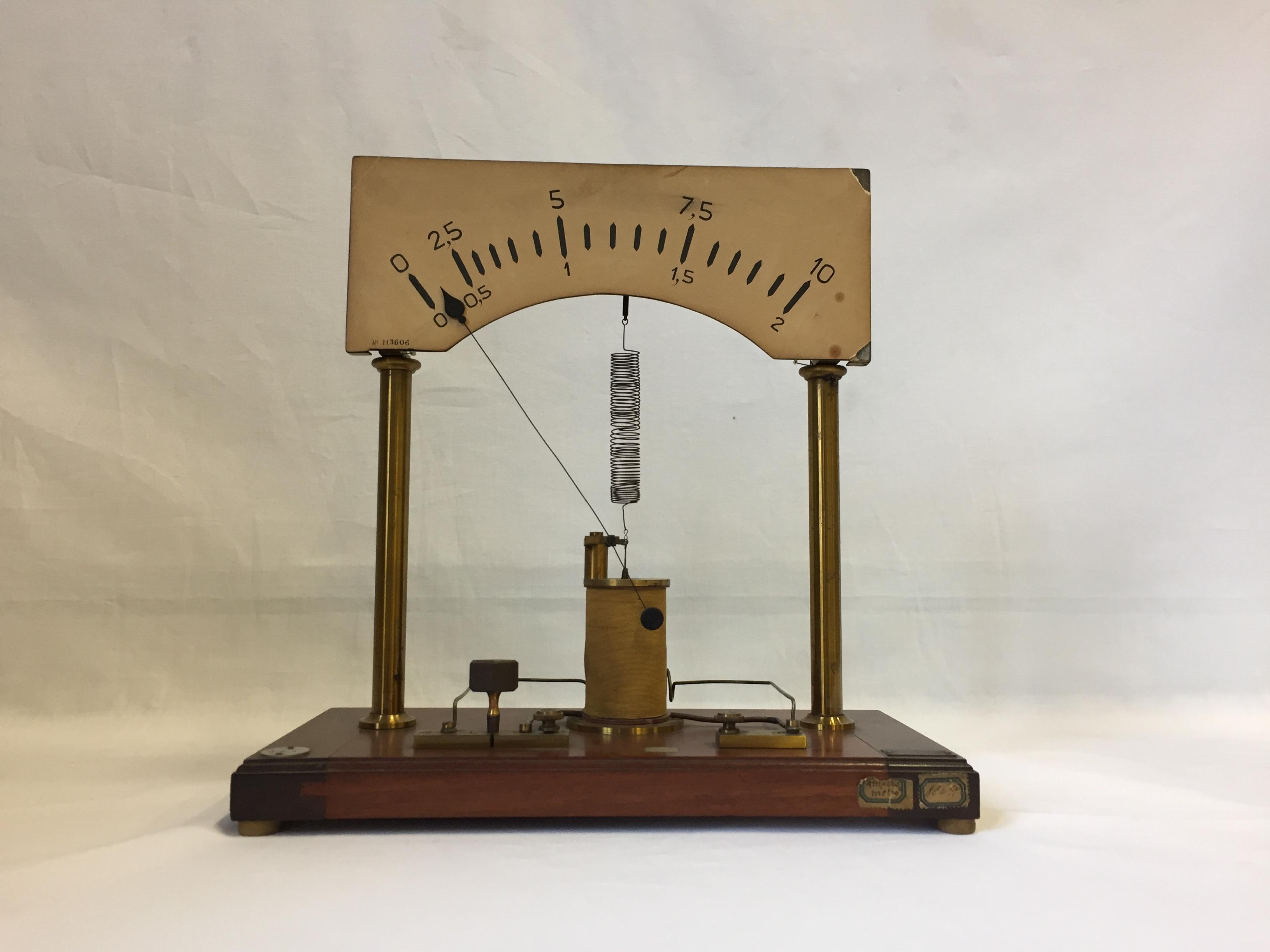 Amperometro da dimostrazione a grande scala