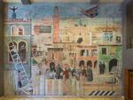 Dipinto - Veduta di Padova con scene di goliardia